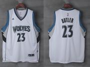 Mens Nba Minnesota Timberwolves #23 Jimmy Butler White Home Jersey