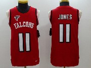 Mens Nfl Atlanta Falcons #11 Julio Jones Red Color Rush Tank Top Jersey