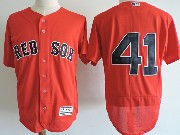 Mens Majestic Boston Red Sox #41 Chris Sale Red (no Name) Flex Base Jersey