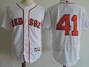 Mens Majestic Boston Red Sox #41 Chris Sale White (no Name) Flex Base Jersey