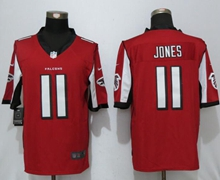 Mens New Nike Atlanta Falcons #11 Julio Jones Red Limited Jersey