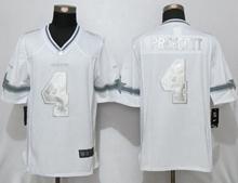 Mens New Nike Dallas Cowboys #4 Dak Prescott White Limited Jersey