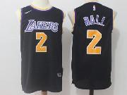 Mens Nba Los Angeles Lakers #2 Lonzo Ball Black Nike Jersey