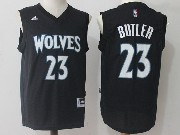 Mens Nba Minnesota Timberwolves #23 Jimmy Butler Black Jersey