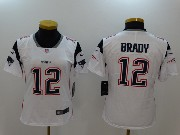 Women New England Patriots #12 Tom Brady White Vapor Untouchable Limited Jersey