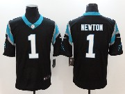 Mens Nfl Carolina Panthers #1 Cam Newton Black Vapor Untouchable Limited Jersey