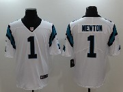 Mens Nfl Carolina Panthers #1 Cam Newton White Vapor Untouchable Limited Jersey
