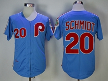 Mens Mitchell&ness Mlb Philadelphia Phillies Custom Made Blue Throwbacks Zipper Jersey