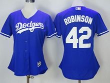 Women Mlb Los Angeles Dodgers #42 Ackie Robinson Blue Jersey
