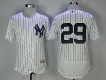Mens Mlb New York Yankees #29 Todd Frazier White Stripe Flex Base Jersey