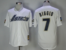 Mens Mlb Houston Astros #7 Craig Biggio White 1981 Throwback Jersey