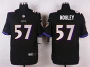 Mens Nfl Baltimore Ravens #57 C. J Mosley Black Elite Jersey