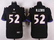 Mens Nfl Baltimore Ravens #52 R.lewis Black Elite Jersey