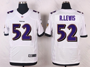 Mens Nfl Baltimore Ravens #52 R.lewis White Elite Jersey