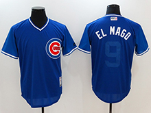 Mens Mlb Chicago Cubs #9 Javier Baez ( El Mago) Majestic Royal 2017 Players Weekend Authentic Jersey