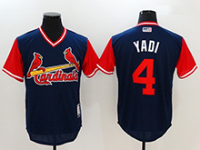 Mens Mlb St. Louis Cardinals #4 Yadier Molina ( Yadi) Majestic Navy 2017 Players Weekend Authentic Jersey