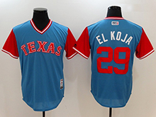 Mens Mlb Texas Rangers #29 Adrian Beltre ( El Koja) Majestic Light Blue 2017 Players Weekend Authentic Jersey