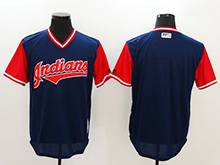 Mens Mlb Cleveland Indians ( Blank) Majestic Navy 2017 Players Weekend Authentic Jersey