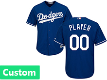 Mens Womens Youth Mlb Los Angeles Dodgers (custom Made) Blue Jersey