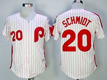 Mens Mitchell&ness Mlb Philadelphia Phillies Custom Made White Stripe Throwbacks Zipper Jersey