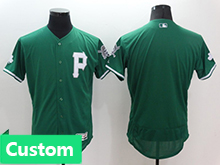 Mens Mlb Philadephia Phillies (custom Made) Green Flex Base Jersey