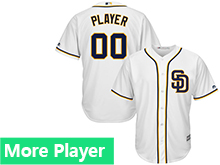 Mens Womens Youth Majestic San Diego Padres White Cool Base Current Player Jersey