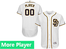 Mens Majestic San Diego Padres White Flex Base Current Player Jersey