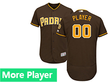 Mens Majestic San Diego Padres Brown Flex Base Current Player Current Player Jersey