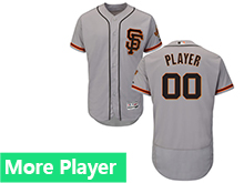 Mens Majestic San Francisco Giants Gray Flex Base Current Player Jersey
