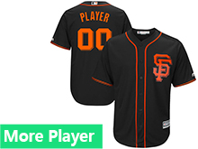 Mens Womens Youth Majestic San Francisco Giants Black Cool Base Current Player Jersey
