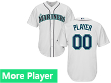Mens Womens Youth Majestic Seattle Mariners White Cool Base Current Player Jersey