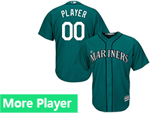 Mens Womens Youth Majestic Seattle Mariners Green Cool Base Current Player Jersey