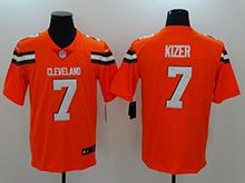 Mens Nfl Cleveland Browns #7 Deshone Kizer Orange Vapor Untouchable Limited Jersey