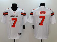 Mens Nfl Cleveland Browns #7 Deshone Kizer White Vapor Untouchable Limited Jersey