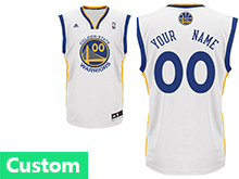 Mens Womens Youth Nba Golden State Warriors (custom Made) White Jersey