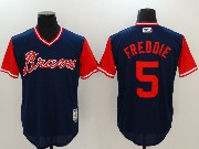 Mens Majestic Atlanta Braves #5 Freddie Freeman Blue 2017 Players Weekend Jersey