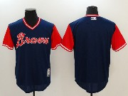 Mens Majestic Atlanta Braves Blank Blue 2017 Players Weekend Jersey
