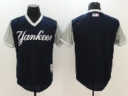 Mens Mlb New York Yankees Blank Blue 2017 Players Weekend Jersey