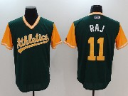 Mens Majestic Mlb Oakland Athletics #11 Raj Green 2017 Players Weekend Cool Base Jersey