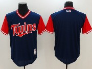 Mens Majestic Minnesota Twins Blank Blue 2017 Players Weekend Jersey