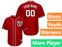 Mens Womens Youth Majestic Washington Nationals Red Cool Base Current Player Jersey