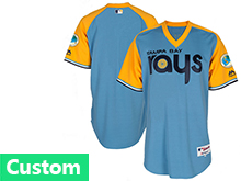 Mens Mlb Tampa Bay Rays Custom Made Light Blue 1978 Turn Back The Clock Cool Base Jersey