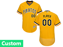 Mens Majestic Pittsburgh Pirates (custom Made) Gold Flex Base Jersey