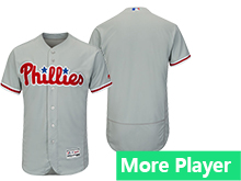 Mens Majestic Philadelphia Phillies Gray Flex Base Current Player Jersey