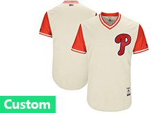 Mens Mlb Philadephia Phillies (custom Made) Cream 2017 Players Weekend Jersey