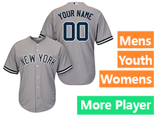 Mens Womens Youth Majestic New York Yankees Gray Cool Base Current Player Jersey