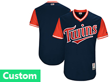 Mens Mlb Minnesota Twins Custom Made Blue 2017 Players Weekend Cool Base Jersey