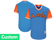 Mens Mlb Miami Marlins Custom Made Royal 2017 Players Weekend Jersey