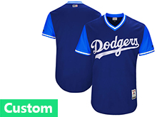 Mens Majestic Los Angeles Dodgers Custom Made Royal 2017 Players Weekend Jersey