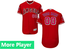 Mens Majestic Los Angeles Angels Red Flex Base Current Player Jersey